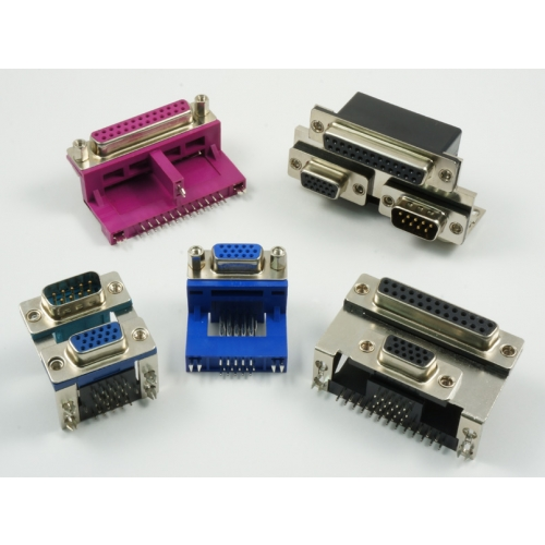 D-Subminiature Connectors Stacked (High Raise)